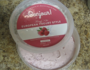 Bonjour French style yogurt - raspberry flavor