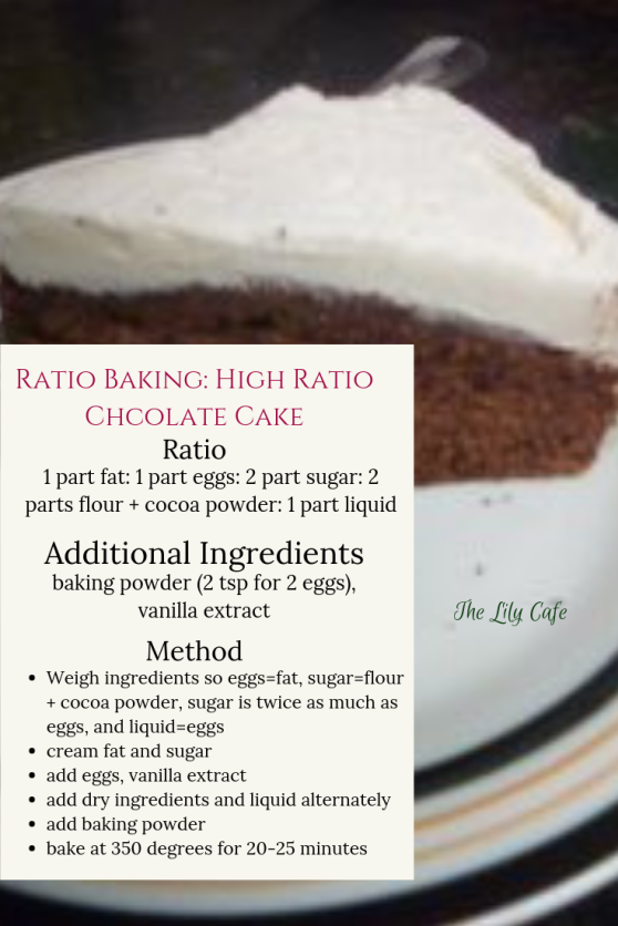 Ratio baking: high ratio chocolate cake - the ratio and how to make it