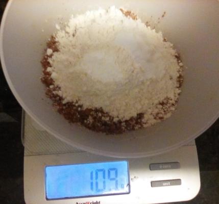 Chocolate Friendship Cake - flour plus cocoa powder plus baking powder plus baking soda