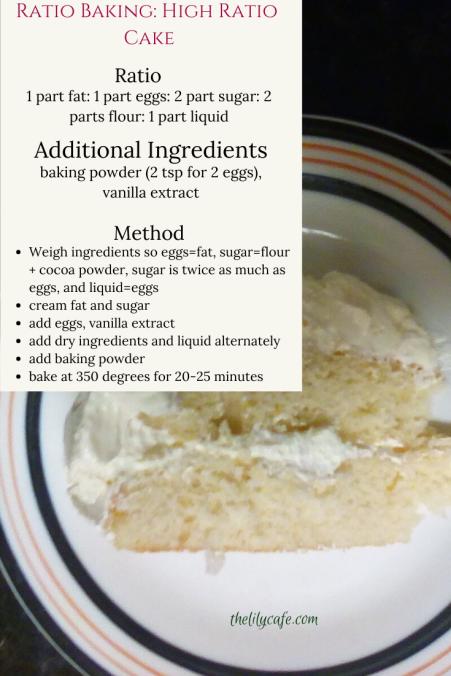 Ratio Baking a High Ratio Cake