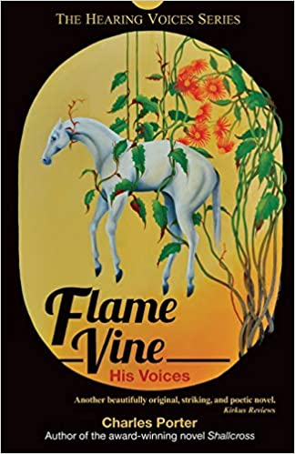 Flame Vine by Charles Porter is about Aubrey, who experiences auditory hallucinations and schizophrenic episodes