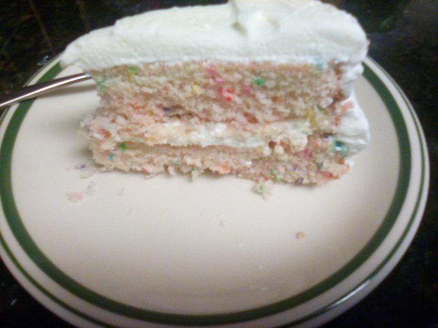 Funfetti cake - a ratio recipe