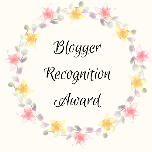 The Blogger RecognitionAward