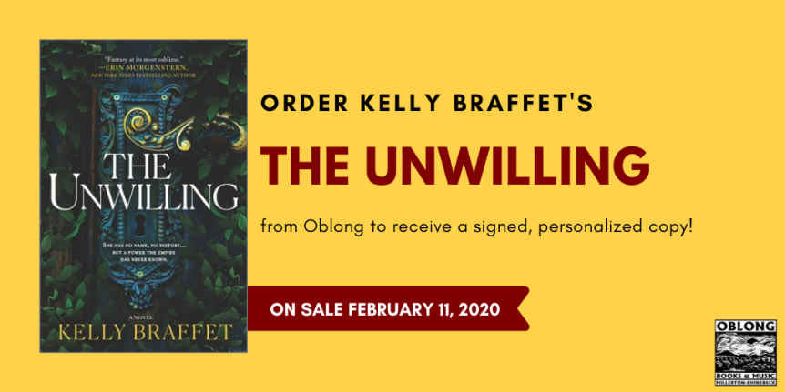 Book blog tour: The Unwilling by Kelly Braffet - a fantasy novel about 2 unlikely people with an incredible bond